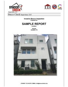 Stucco Check Sample Report Cover
